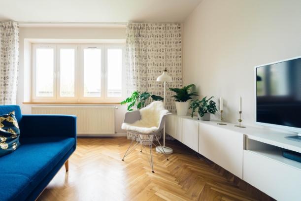 Voorbeeld comfortabele woonkamer